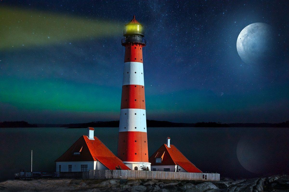 landscape, fantasy, lighthouse